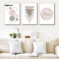 Bighouse_Nordic Geometric Pattern Wall Art Poster Canvas Printing