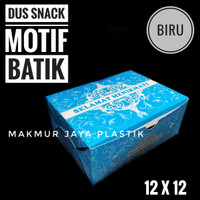 [ DUS SNACK BATIK - 12 X 12 ] ANEKA BOX KUE MOTIF UKURAN 12 X 12