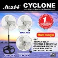 Arashi Kipas Angin Besi 3in1 Cyclone 18inch AR118SDW Standing Fan