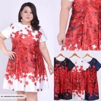 dress white pesta big size XXL/big mini dress XXL white red/dress XXL