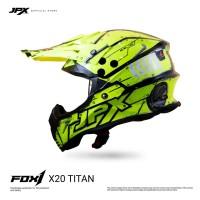 JPX Cross Full Face X20 Titan - Fluorescent Yellow Doff