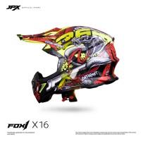 JPX Cross Full Face X16 Snake - Fluorescent Yellow Doff
