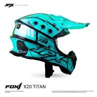 JPX Cross Full Face X20 Titan - Tosca Blue Gloss