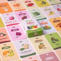 Flash Card / Mainan Bayi / Mainan Edukasi Anak Seri Buah dan Sayur