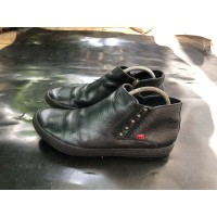 Sepatu Kickers France Ankle Boots Leather Black Second Original