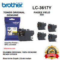 BROTHER Tinta LC-3617Y   LC3617Y   LC3617 Y Original Yellow