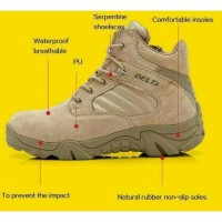 Sepatu boot safety pria Delta Low tactical 6.0 Touring Hiking Tracking