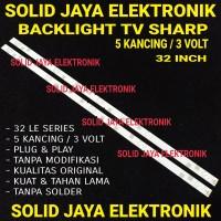 BACKLIGHT SHARP 5 KANCING 3 VOLT 5K 3V 6 MATA LAMPU BL LED TV 32 INCH