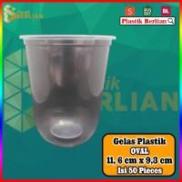 Gelas plastik CUP PP Oval 16 oz isi 50 tanpa tutup