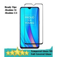 REALME 5i | C3 - Tempered Glass 9D Full Glue Full Cover