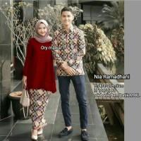 Sarimbit Couple Batik Kebaya Brokat Modern