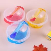 mangkuk sendok set bayi peralatan makan bayi