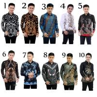 Kemeja Batik Pria Lengan Panjang Merak Mocca