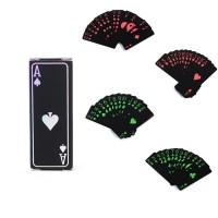 Kartu Remi Mini Black Travel Poker Anti Air Plastik Elastis Ringan 54