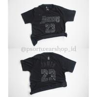 Tshirt Basket Nike LA LAKERS Edisi MVP Black NO 23 Lebron James Hitam