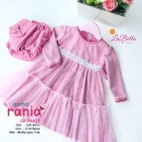 (6-24 bulan) GB RNA 13 Baju Muslim Gamis Bayi LaBella Rania Pink