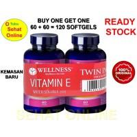 BUY 1 GET 1 WELLNESS NATURAL VITAMIN E 400 IU BPOM 60 SOFTGEL