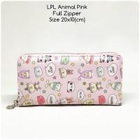 dompet wanita lopolo full zipper animal pink dompet panjang