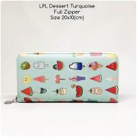 dompet wanita lopolo full zipper dessert torquise dompet panjang