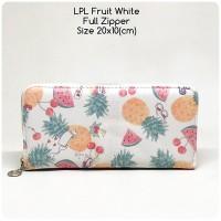 dompet wanita full zipper lopolo fruit white dompet panjang