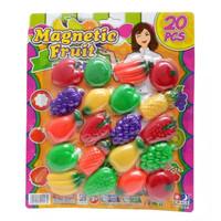 Mainan Anak Fruit Magnetic Fruit Tempelan Kulkas 20 pcs No IM-020