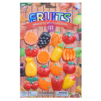 Mainan Anak Fruit Magnetic Memo Holders Tempelan Kulkas 16 pcs 1237