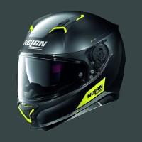 Nolan N87 Emblem N-COM Flat Black Yellow