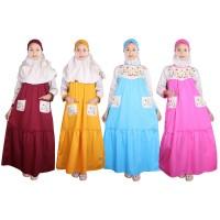 Baju Gamis Anak Warna Fayrany FGW-013 size 6 - 15