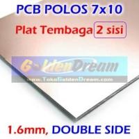 PCB Fiber FR4 2 sisi 7x10cm DOUBLE Side Papan Polos 7x10 cm Glass Circ