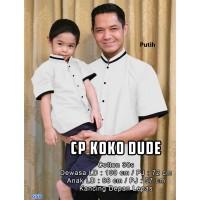 cp koko dude putih/ baju couple anak dan ayah/pakaian muslim