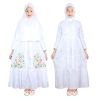 Fayrany FGP-014 Baju Muslim Gamis Anak Putih Size 1 - 5