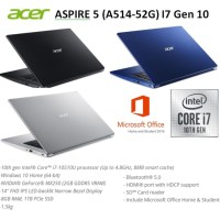 Laptop Acer Aspire 5 A514-52G Core i7-10510U RAM 8GB SSD1TB VGA MX250