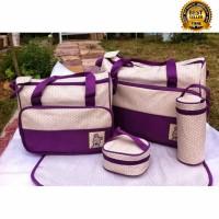 Diaper bag Tas Perlengkapan bayi 5 IN 1 travelling bag multifungsi