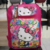 Tas Murah Ransel Anak Perempuan Motif Hello Kitty Keplek Pink Trendy
