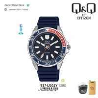 Q&Q QnQ QQ Original Jam Tangan Pria Analog - S374 S374J Rubber