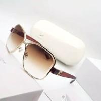Kacamata Wanita Metal Kotak Full Bingkai Fashion Branded Ganti Lensa