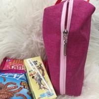 Goodie Bag Polos Pink Souvenir Cantik Murah Tempat Snack Ulang Tahun