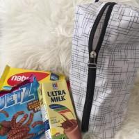 Goodie Bag Garis Putih Souvenir Cantik Murah Tempat Snack Ulang Tahun