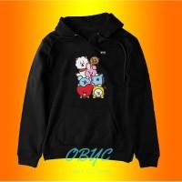 sweater hoodie wanita BT21 BTS jaket perempuan 01