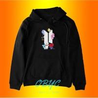 sweater hoodie wanita BT21 BTS jaket perempuan