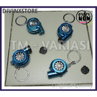 Keychain Gantungan Kunci Turbo Sound Lighter Import Warna Biru