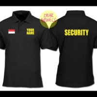 TERPERCAYA Polo Shirt Kaos Kerah Security Custom Black 1507 - Dear