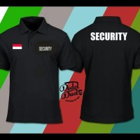 OBRAL Baju kerah Kaos polo shirt pria Security Kaos kerah security -