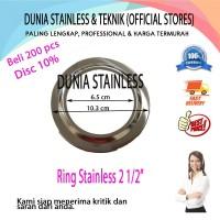 "Ring stainless steel 2 12"" aksesories stainless steel interior"