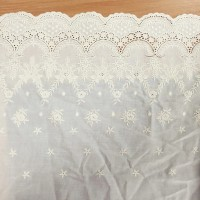 Mode tinggi Super Widely Exquisite Cotton100% Cloth Embroidery Lace