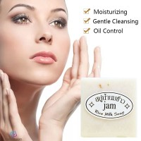 ❥ JAM Handmade 60g Rice Milk Soap Wash Face Body Cleaning Soap Fov