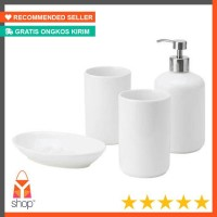 HOT PRODUCT IKEA BOASJO aksesories kamar mandi, set isi 4, putih