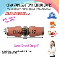 "Bandul keramik orange polos 1"" aksesories stainless steel interior"
