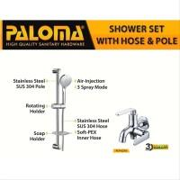 PALOMA FCP 6276 SSP 1106 Paket Keran Cabang Shower Set Tiang
