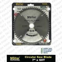 Mata Gergaji Mitre Saw 7 Inch x 60 T MOLLAR TCT METAL Besi Circular